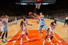 Nuggets forward Danilo Gallinari enjoyed a career night in his return to Madison Square Garden on Jan. 21. Galllinari scored 37 points to lead Denver to a double-overtime victory over the New York Knicks.  Nathaniel S. Butler/NBAE/Getty Images