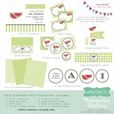 Watermelon Printable Party Collection