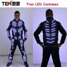 54b5d5b0181 Tron LED Suit Traje LED Robot Suit LED Clothing Luminous Dance Costume