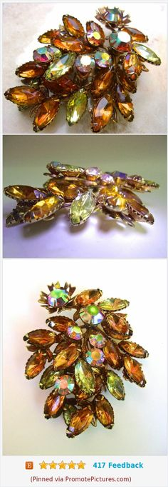 Rainbow Aurora Borealis Topaz Cluster Brooch, Rhinestones, Unsigned Judy Lee, Estate High End, Vintage https://www.etsy.com/RenaissanceFair/listing/563020793/rainbow-aurora-borealis-topaz-cluster?ref=shop_home_active_3  (Pinned using https://PromotePictures.com)