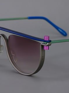 sunglasses. -idea: top strip in wood? Use old glass from thrift frames, bend metal, or wood for nose and glue in?