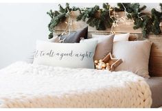 Shop an amazing home decor deal on And To All A Good Night Pillow Cover at DecorSteals. Christmas Love, Country Christmas, Christmas Crafts, Christmas Decorations, Diy Wood Projects, Wood Crafts, Lanterns Decor, Home Decor Trends, Good Night