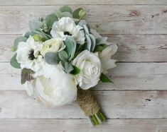 Rustic Bridal Bouquets, Bride Bouquets, Flower Bouquet Wedding, Bridesmaid Bouquet, Diy Outdoor Weddings, Succulent Bouquet, Bouquet Toss, Silk Flowers, Perfect Wedding