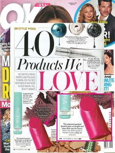 We spot our Ultra Color Bold Lipstick highlighted in @okmagazine as one of the '40 Products We love'