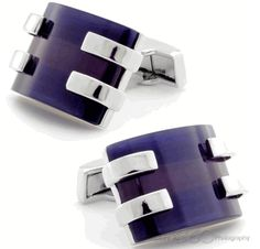 Opaque Purple Cufflinks