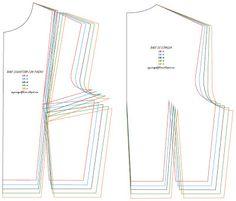 Mujeres y alfileres: Moldes base de corpiño para imprimir