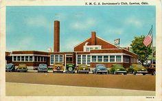 Lawton Oklahoma OK 1942 YMCA Servicemen's Club USO Antique Vintage Postcard