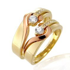 Jewelry That I Love - Jewelry Daze Gold Wedding Jewelry, Gold Rings Jewelry, Wedding Gold, Jewellery, Diamond Rings, Diamond Jewelry, Couple Ring Design, Fashion Rings, Fashion Jewelry