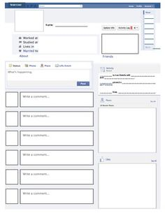 great facebook template for book reports! http://freeology, Powerpoint templates
