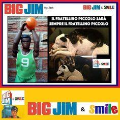 Big Jim & Smile: Fratellino piccolo - Big Jack Big Jim, Figs, Beagle, Mantra, Lol, Baseball Cards, Memes, Funny, Beagle Hound