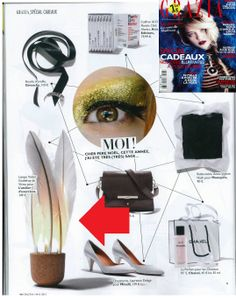 Lampe Volant - Shuttlecock lamp in Grazia December 2013