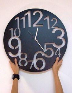 Reloj en acrílico!! Para paredes de cualquier tamaño. Tamaño ideal