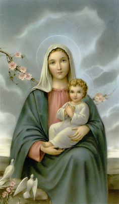 Mother Mary with Her Blessed Child,Jesus.