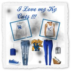 """""""Ky wildcats !!!!"""" by lisa-m-reynolds on Polyvore"""