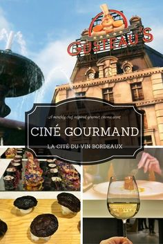 Join La Cité du Vin for their monthly Ciné Gourmand, an evening of fine food and wine tasting paired with a film on the first Wednesday of every month.