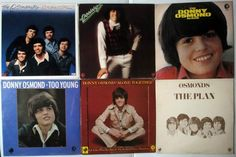 The OSMONDS Donny Osmond - OSMOND BROTHERS- Marie Osmond LP lot of 17 LP's #7850 | eBay