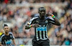 Newcastle's Pappiss Cisse (above) saved a point for the Magpies with a brace against Hull