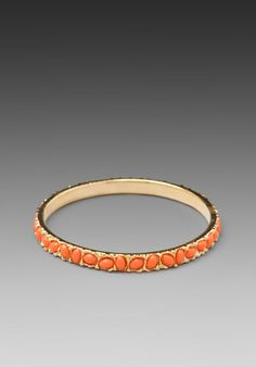 Thin Bangle in Coral