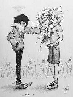 Nico, flowers, will. <3