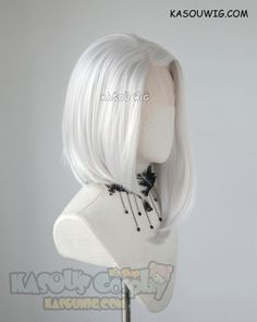 Lace Front>>> Overwatch Ashe silver white side-parted asymmetric bob shoulder-length cosplay wig [ Kasou Wig ] Lace Front Ashe silver white side-parted asymmetric bob shoulder-length cosplay wig Kawaii Hairstyles, Short Bob Hairstyles, Pretty Hairstyles, Wig Hairstyles, Layered Haircuts, Medium Hairstyles, Wedding Hairstyles, Anime Wigs, Anime Hair
