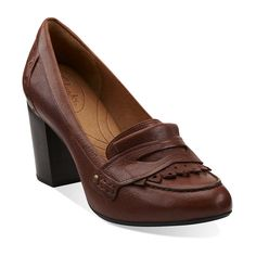#repinclarks   Town Green in Cognac Leather - Womens Shoes from Clarks.  i LOVE the classic look of these!