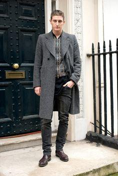 Street Style Menswear FW 13-14  Street style de Londres,   Chris Beek