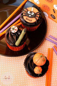 Pumpkin Cupcakes // Cupcakes de Calabaza #pumpkin #cupcakes #halloween #recipes #recetas #calabaza