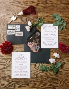 Wedding invitation idea; Featured photographer: Rebecca Yale Photography