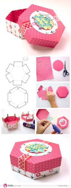 ideas diy paper crafts origami gift boxes for 2019 Diy Gift Box, Diy Box, Diy Gifts, Gift Boxes, Diy Paper, Paper Crafts, Diy And Crafts, Crafts For Kids, Papier Diy