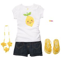 Little Lemon Lady   Toddler Girl Spring  Trends  summer '13 carters. Is it bad that I think there should be an adult version of this outfut??!!