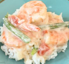 Shrimp in coconut milk with string beans, an ever popular dish on Guam. Best made with head-on shrimp, but headless will do too.