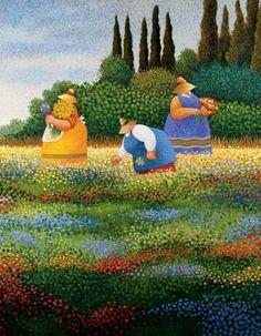 "Tammy, Polly, and Jessica.....................................................  Herrero...""Spring Gathering"""