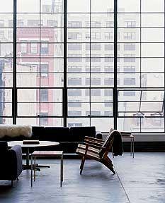 Loft, Renwick Street, New York. The windows are so awesome!