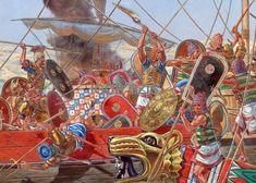 Egyptian vs Sea Peoples at Sea