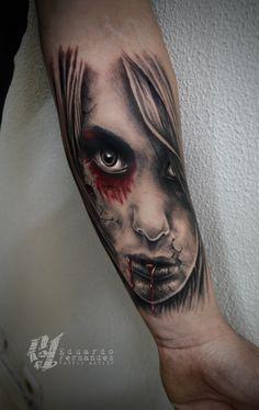 Girl Face Tattoo