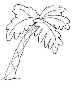 Palm Tree Coloring Pages palm tree coloring pages 7 comgif