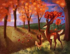 Changing of the Seasons by BriMercedes.deviantart.com on @deviantART (Deerling and Sawsbuck)