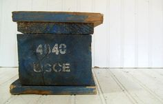 Vintage Chippy Paint Solid Wood Block  United by DivineOrders, $32.00