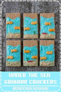 ★★★★★ - Under the Sea Graham Crackers - an easy to make edible kid craft or edible preschool craft! Perfect treat for an under the sea birthday party or a under the sea themed school lesson. Thanksgiving Activities For Kindergarten, Thanksgiving Activities For Kids, Craft Activities For Kids, Thanksgiving Crafts, Stem Activities, Toddler Activities, Crafts For Kids, Pilgrims Thanksgiving, Thanksgiving Videos