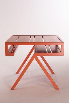 MATERIAL Pink powder coated steel with Copper. DIMENSIONS (WxHxD) Contorno No 9: 500x440x400 mm CONCEPT Made to create space and convenience in an interior. With an eye for simplicity and quality craftsmanship. These handmade side table, with sharp steel contours, consist 9 small shelves. Design that is at once functional and unique. PHOTOGRAPHY Studio Jolanda van Goor YEAR 2015