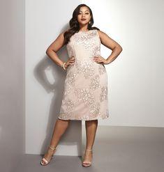 *SL MCK GLD SEQ FLRL SHRTFloral Sequin A-Line Dress,