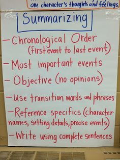 When writing a paper, what needs to be included in the summary?