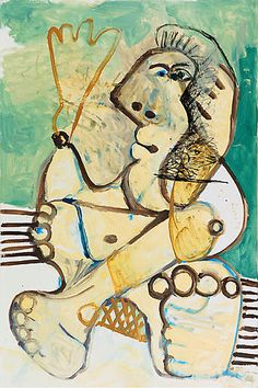 Pablo Picasso-Femme-1972