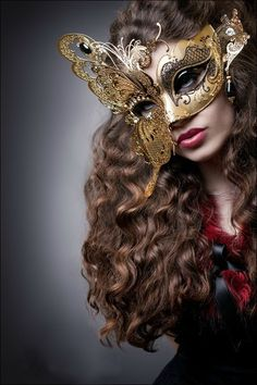 Luxury Venetian mask decorated with Filigree metal detail - named Fenice at Just Posh Masks