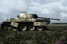 Destroyed German Panzer Panther PzKpfw V  2.0