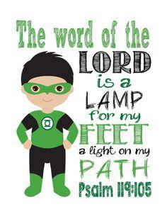 Green Lantern Superhero Christian Printable The by PixiePaperSTL