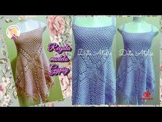 Blusa Crochê Floral (1°parte) by Claudete Azevedo - YouTube