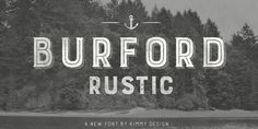 Burford Rustic by Kimmy Design – the alternative of Burford #antiquefont #ornaments