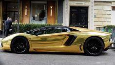 Gouden lamborgini