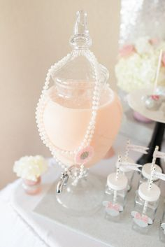 Drink Canister from an Elegant Minnie Mouse Boutique Birthday Party via Kara's Party Ideas! KarasPartyIdeas.com (42)